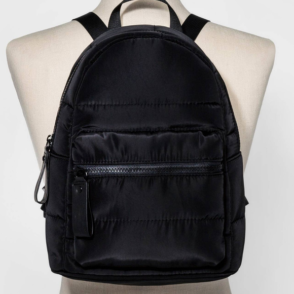 356af5c697d NWT Mossim Supply Co. Black Quilted Nylon Backpack NWT